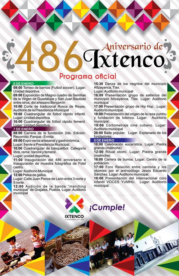 Celebran el 486° Aniversario de la Fundación de Ixtenco
