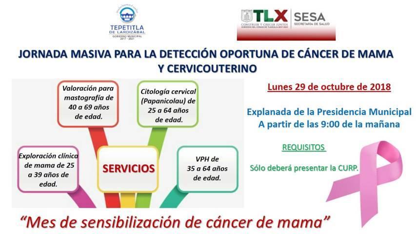 Lardizábal invita a la Jornada para la Detección Oportuna de Cáncer de Mama y Cervicouterino