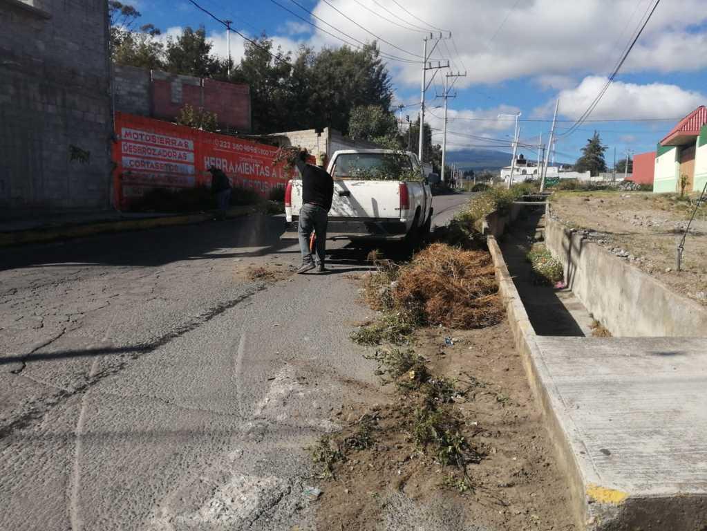 Realizan jornada de limpieza en la comunidad de Santa María Yancuitlalpan