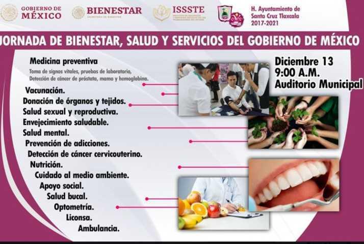 Santa Cruz Tlaxcala invita a las jornadas de bienestar, salud y servicios del Gobierno de México