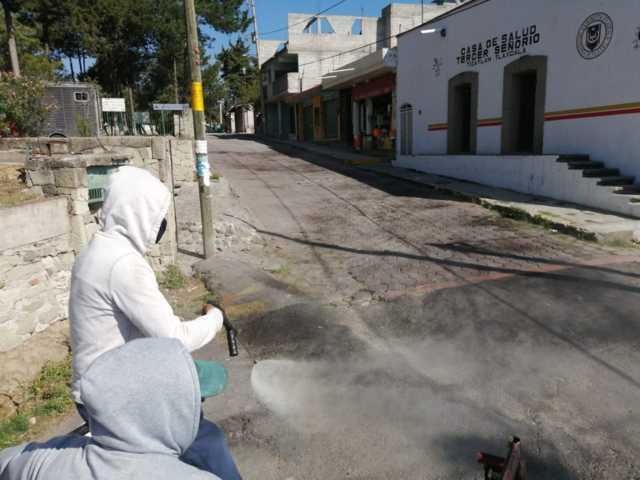 Efectúan Jornadas de Sanitización en comunidades de la capital