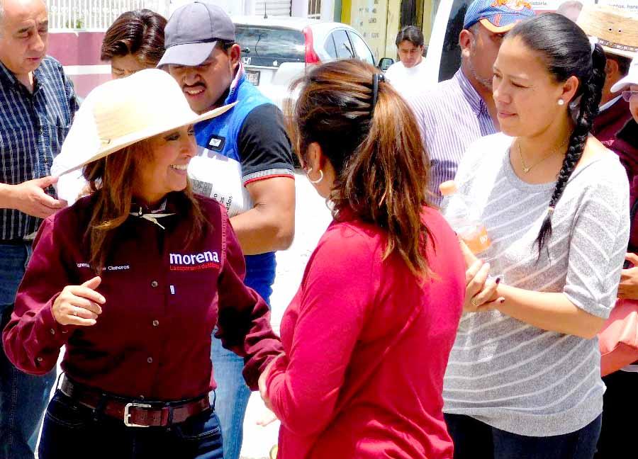 Te queremos diputada, vamos con Lorena y Morena: Pobladores