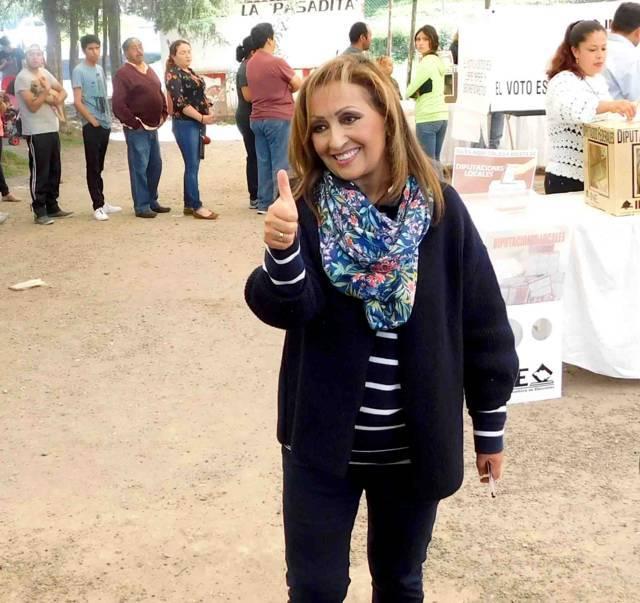 Lorena confirma triunfo avasallador de MORENA- PT- PES