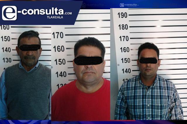 Detienen en San Pablo del Monte a tres presuntos asaltantes