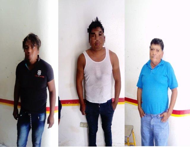 Policía municipal detiene a 3 presuntos asaltantes y recupera camión robado