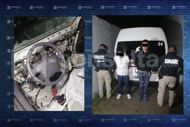 La SSC asegura vehículo robado y detiene a dos personas en Teolocholco
