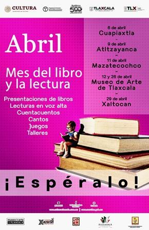Celebrarán en Tlaxcala el mes del Libro y la Lectura 2019