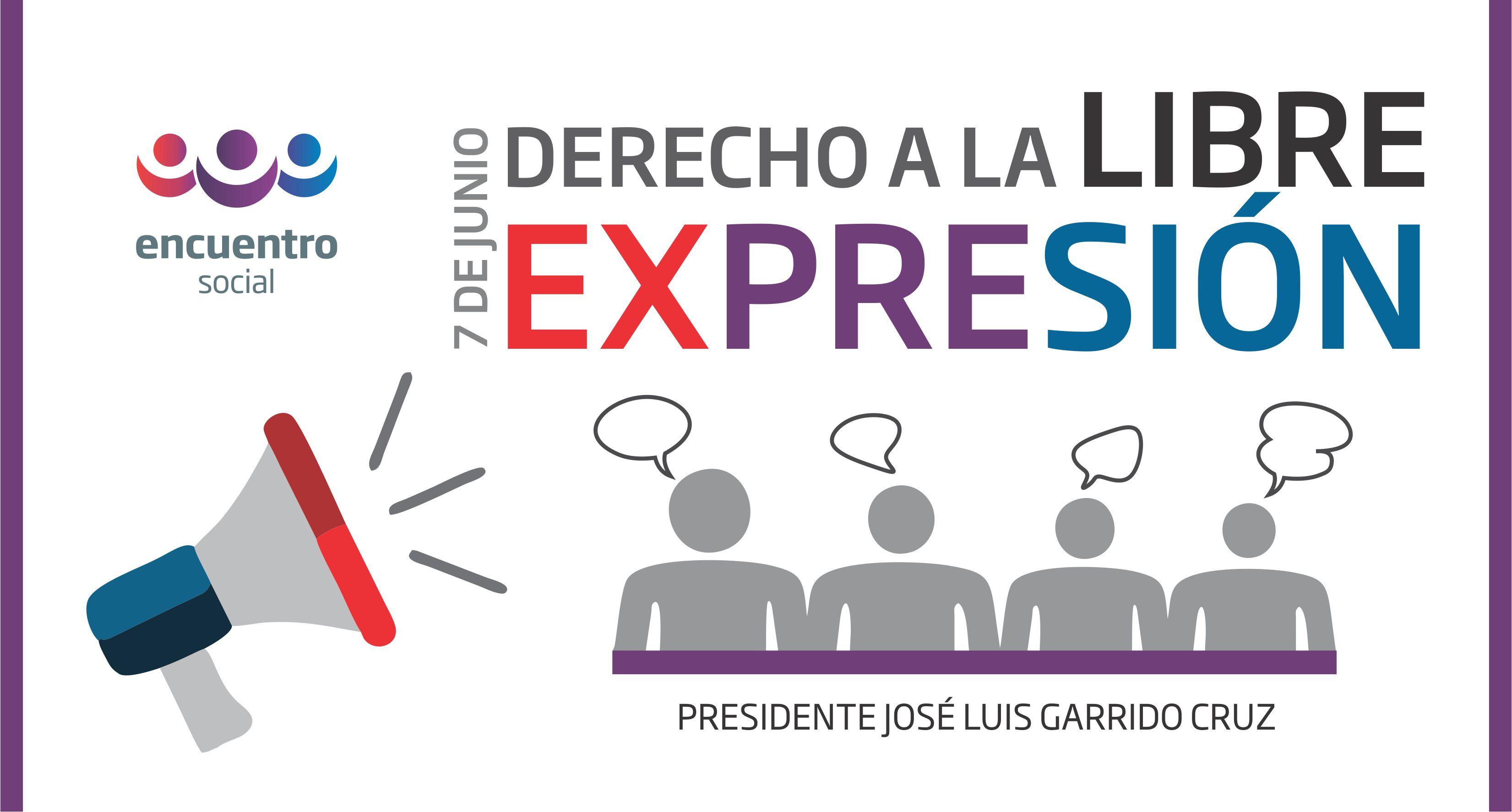 Derecho a la libre expresión: José Luis Garrido Cruz