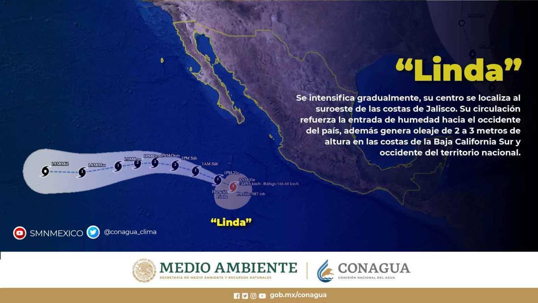 Para este viernes, se prevén lluvias puntuales muy fuertes en Chiapas, Chihuahua, Guerrero y Sonora