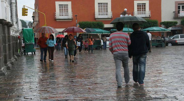 El día de hoy se prevén lluvias aisladas para Tlaxcala