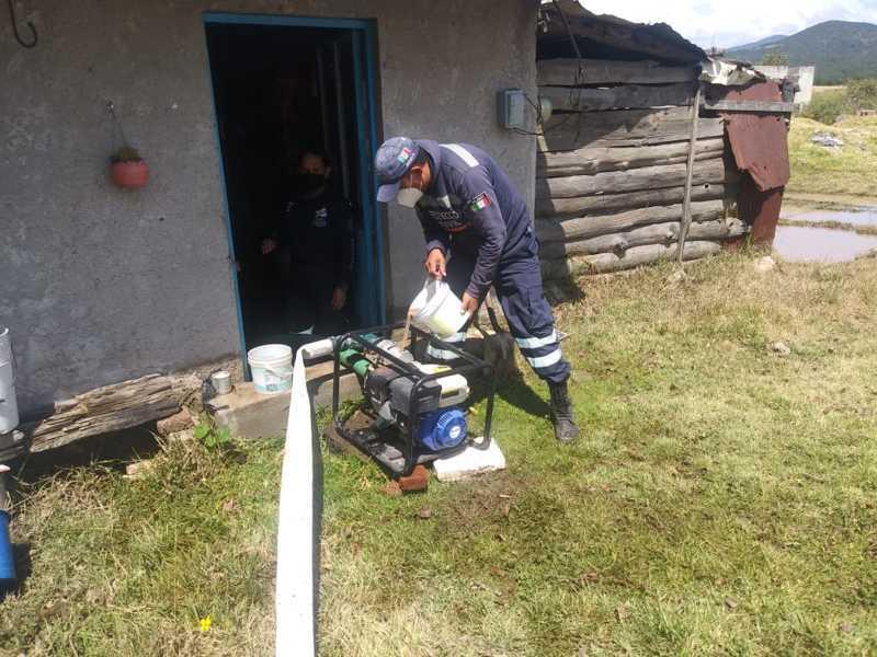 Atiende Protección Civil de Tetla emergencias a causa de lluvias