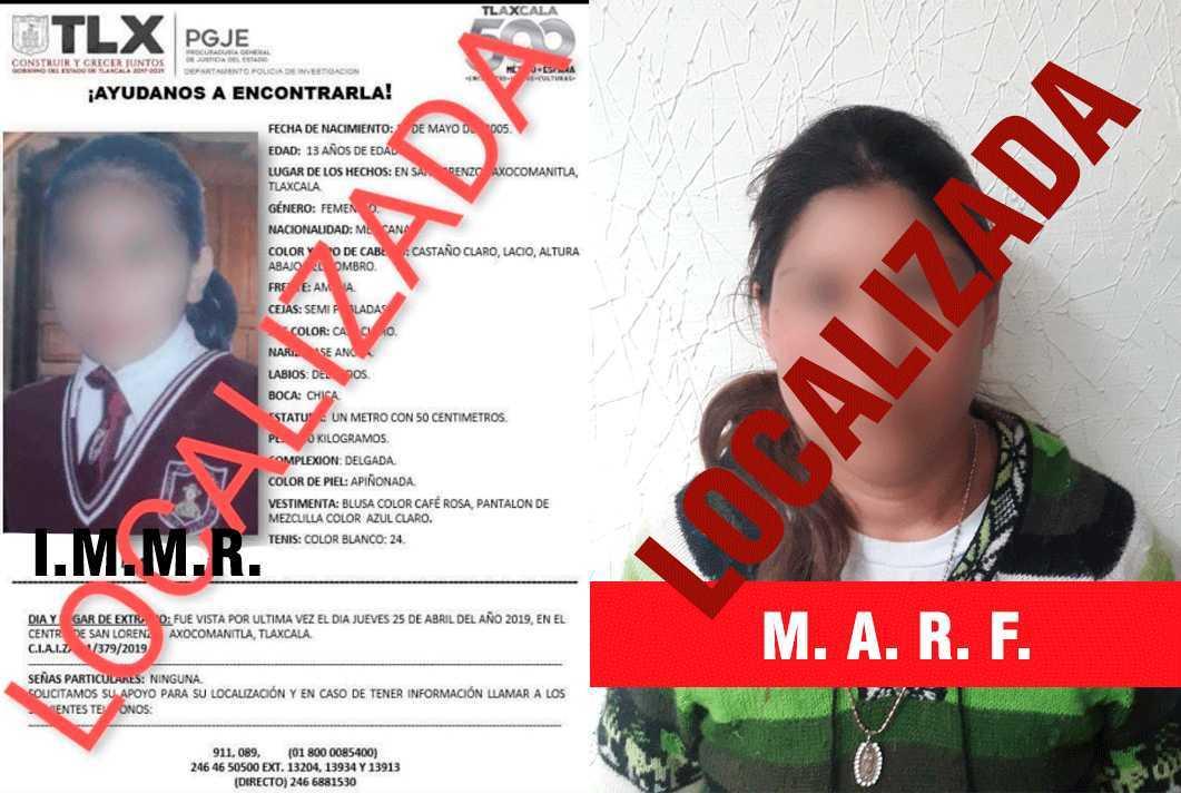 Localiza PGJE a dos mujeres reportadas como extraviadas