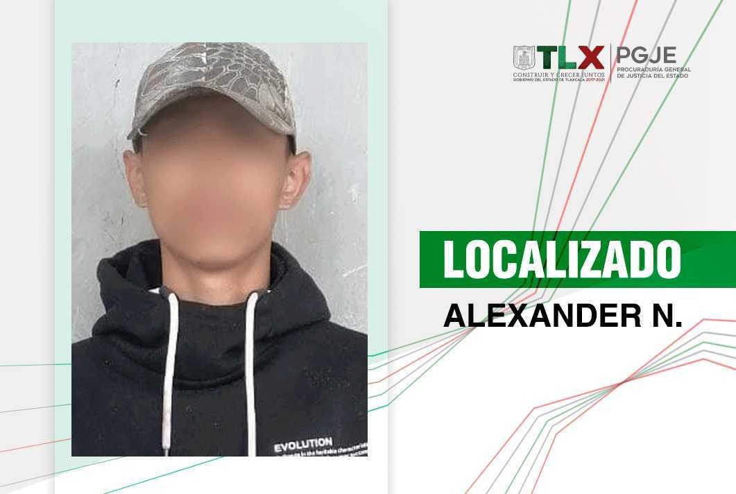 Localiza PGJE a Alexander N. reportado como desaparecido en Tlaxcala