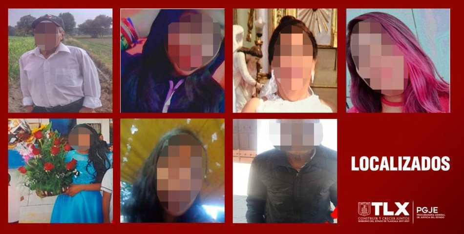 Localizan a siete personas reportadas como desaparecidas