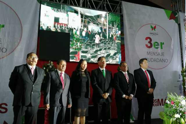 Edil de Papalotla destaca en su tercer informe 25 mdp en obra pública