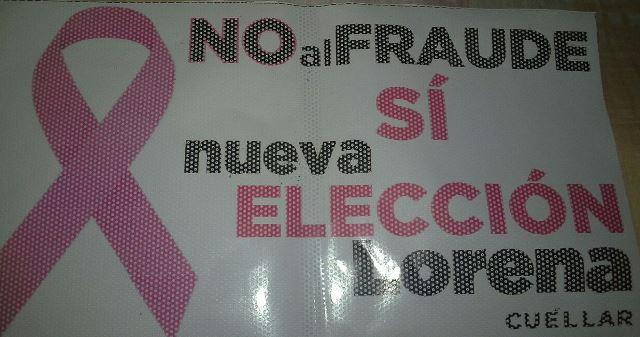 Arranca Lorena Cuéllar campaña para pedir nueva elección