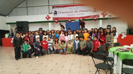 Lorena Cuéllar amadrina a niños de sexto año