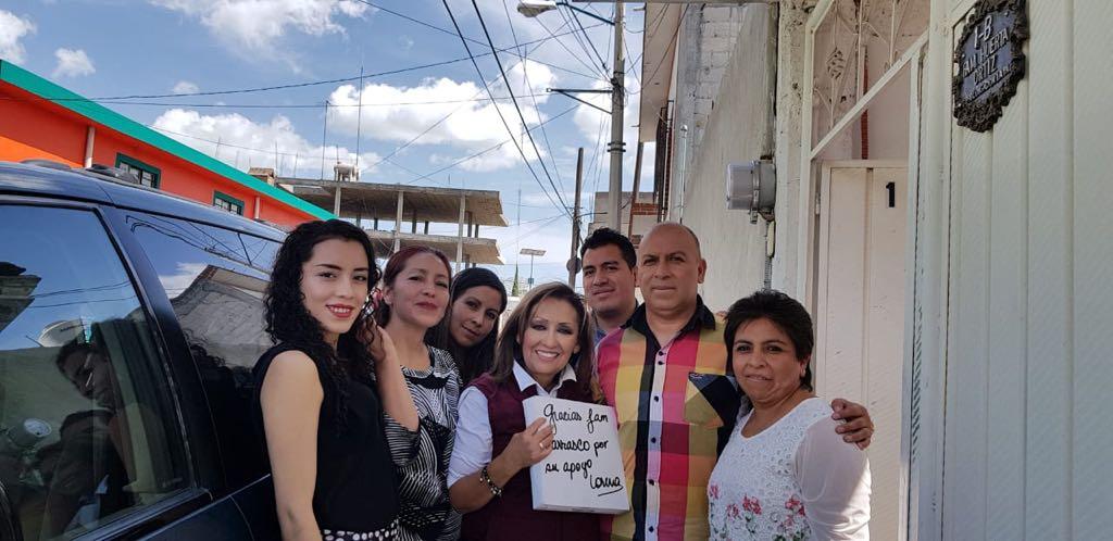 Calpulalpan recibe de nuevo a la morenista Lorena Cuéllar