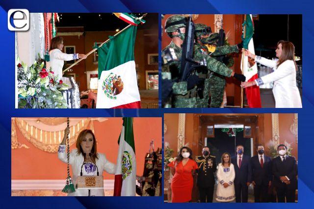 Gobernadora Lorena Cuéllar encabezó grito de independencia de manera virtual