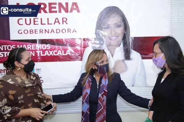 Lorena Cuéllar lleva agenda feminista