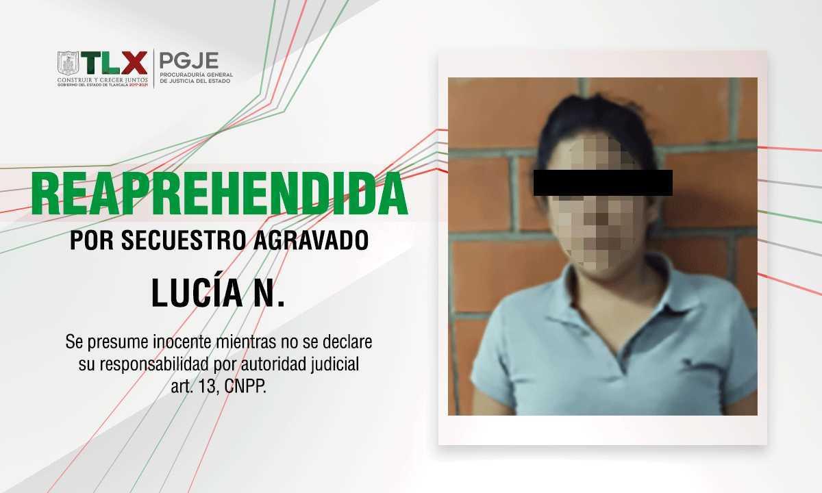 Reaprehende PGJE a imputada por secuestro agravado ocurrido en 2014