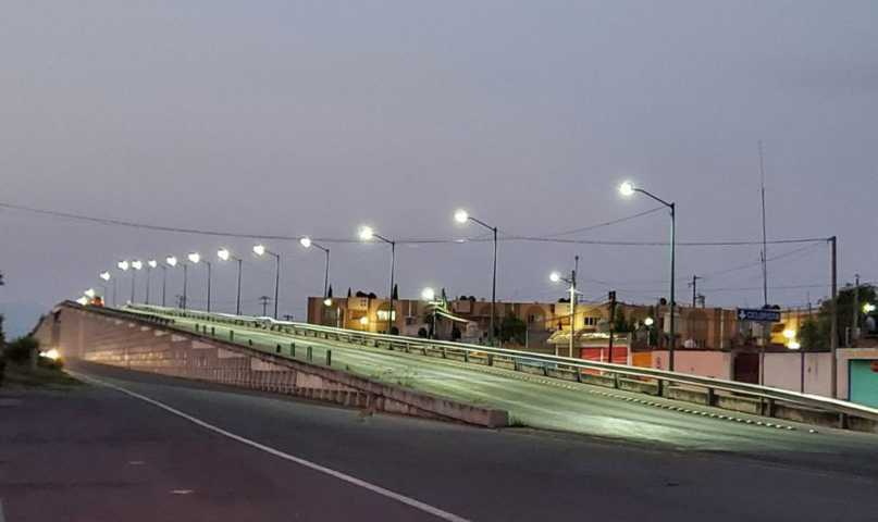 Coloca gobierno de Huamantla 21 luminarias para fortalecer las acciones de seguridad