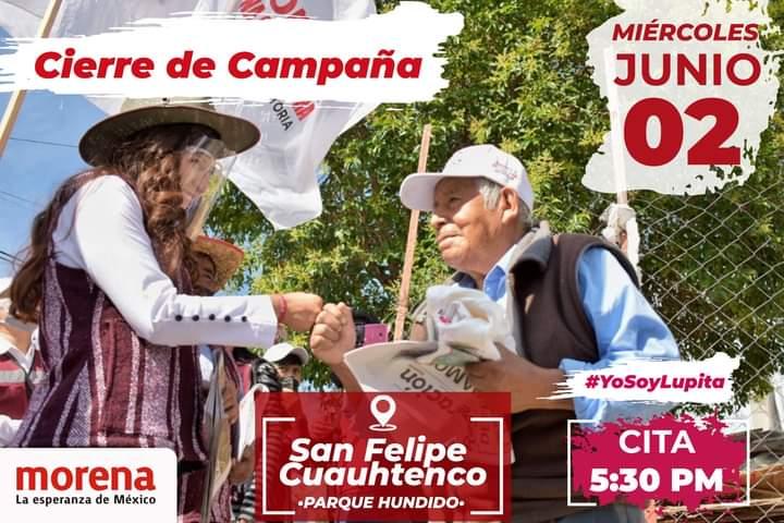Contundente rumbo al Congreso; Lupita Cuamatzi cierra campaña