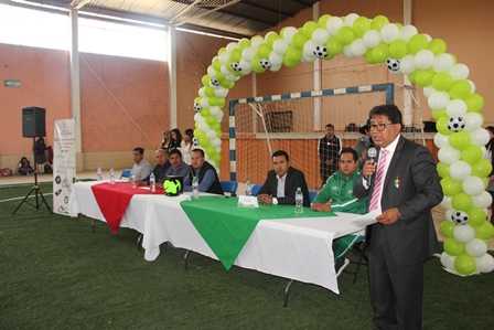 Alcalde fomenta deporte con el primer torneo interescolar