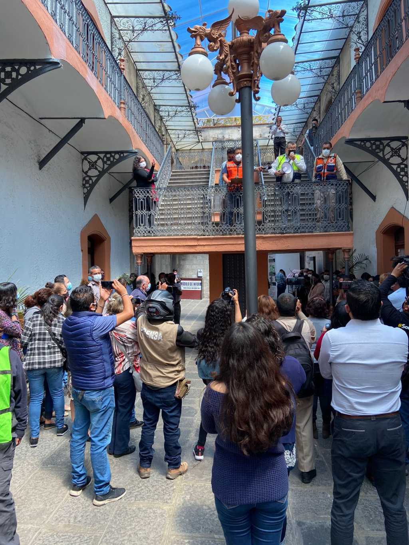 Participa comuna de Tlaxcala en Macrosimulacro nacional 2021