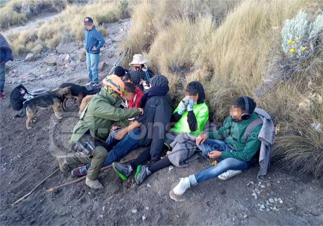 La policía de montaña localiza y rescata a 11 personas en La Malinche