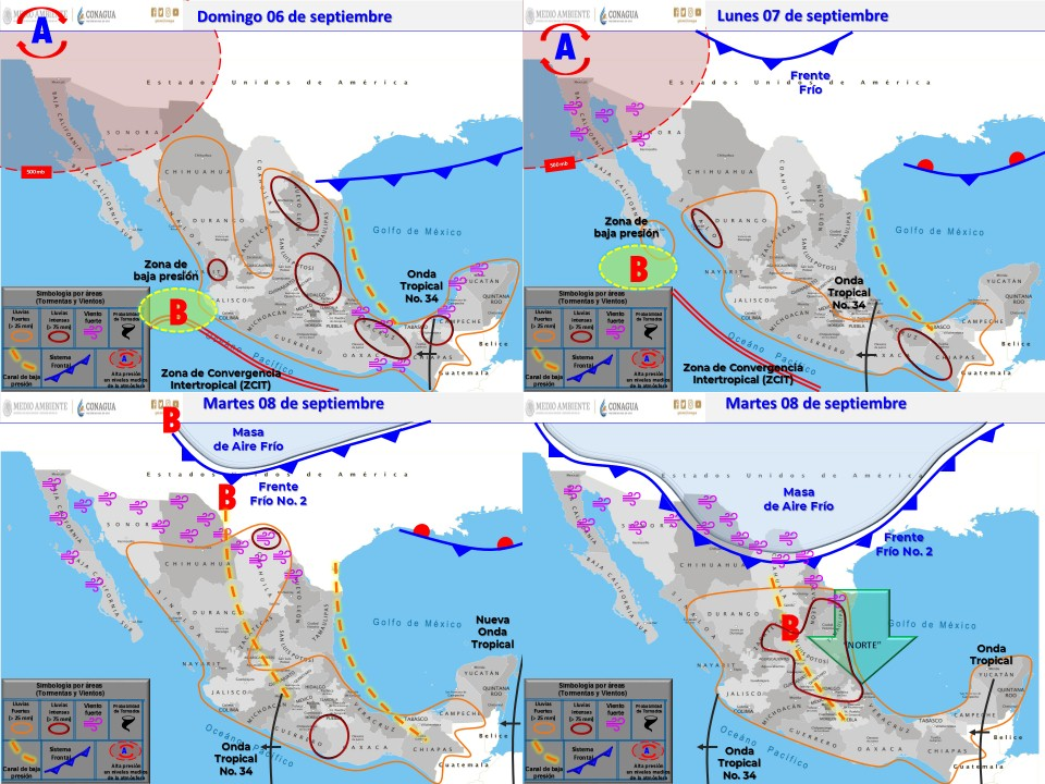 Se esperan lluvias ligeras para Tlaxcala el dia de hoy sábado