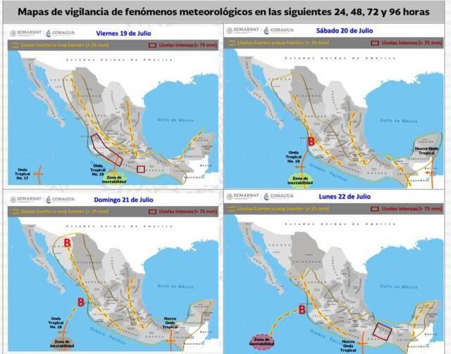 La Onda Tropical Número 18 ocasionará lluvias en Tlaxcala