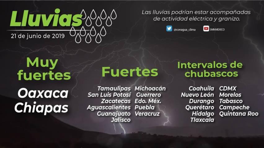 Se pronostican lluvias con intervalos de chubascos para Tlaxcala