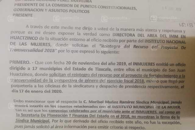 Piden apoyo para resolver Un Chisme entre alcalde y sindica de Huatzinco