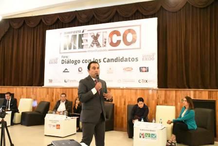 Cuatro ejes de desarrollo sustentable propone Mariano ante la Coparmex