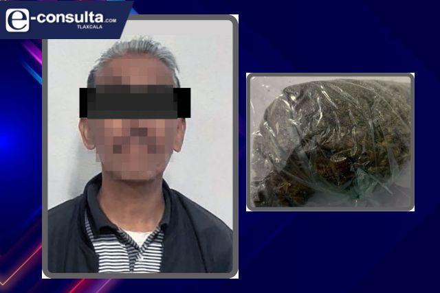Aseguran a una persona por la posesión ilegal de enervantes en Tlaxcala