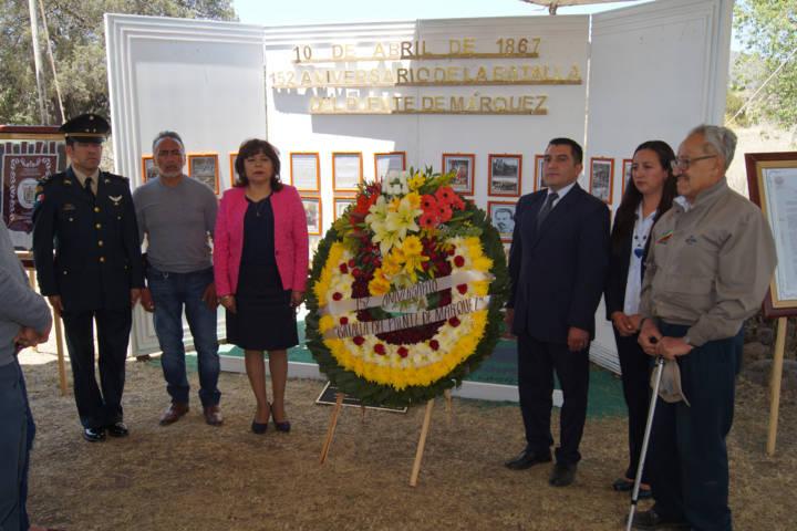 Alcalde encabezo aniversario de la batalla del Puente de Márquez