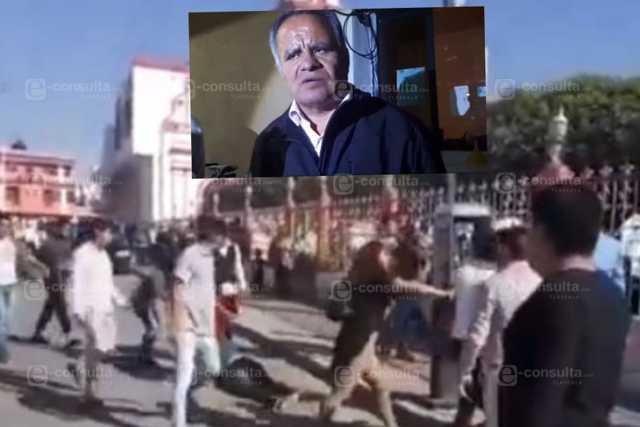 Casi matan a golpes a un joven en Mazatecochco, policías cuidan al frijol