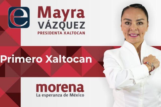 Mayra Vázquez fortalece la suma de voluntades; va por la alcaldía de Xaltocan