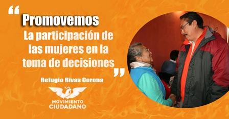 Promueve  MC la participación de la mujer: Refugio Rivas