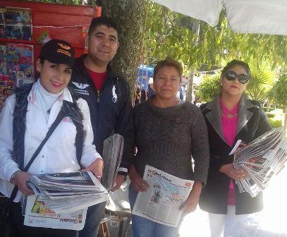 Las Brigadas Naranjas visitan la comunidad de Acuitlapilco