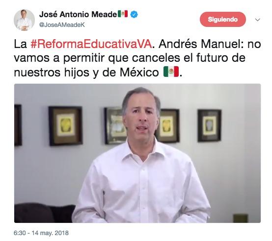 Mensaje de José Antonio Meade sobre la Reforma Educativa