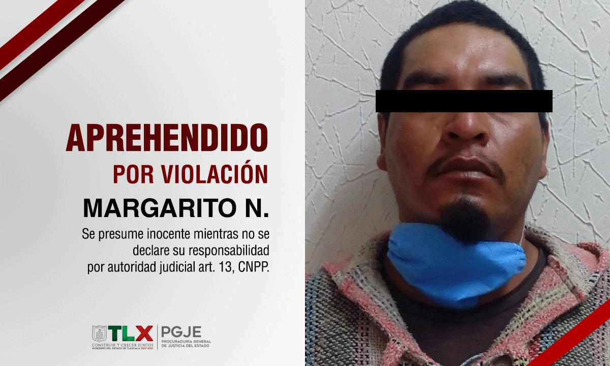 Margarito violó a su sobrina de tan sólo 11 años de edad