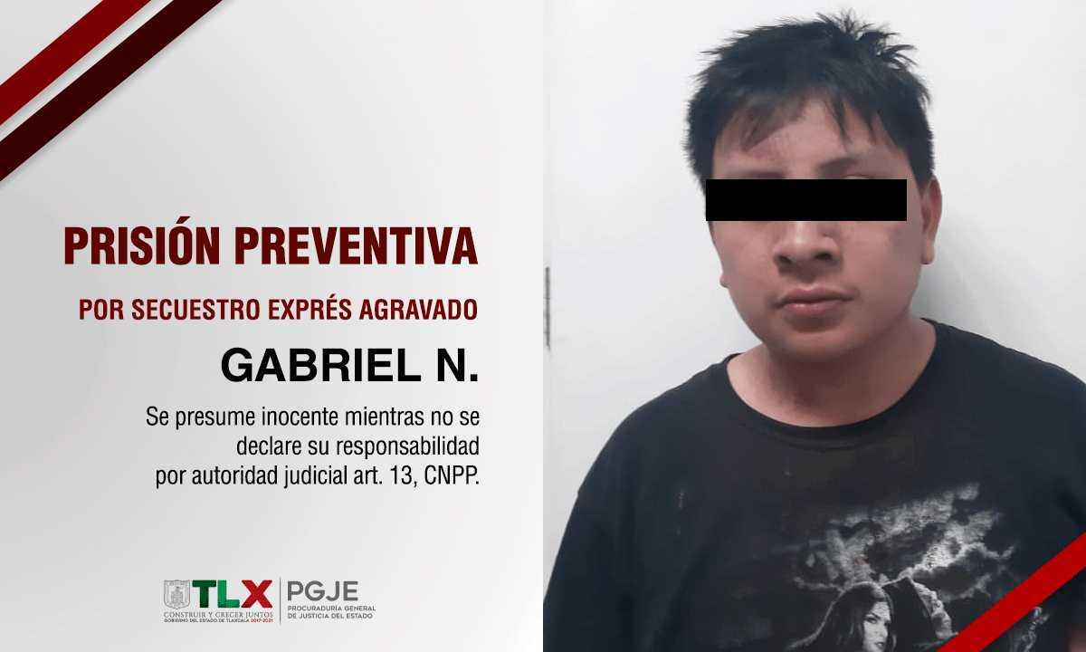 Obtiene PGJE prisión preventiva contra imputado por secuestro exprés agravado