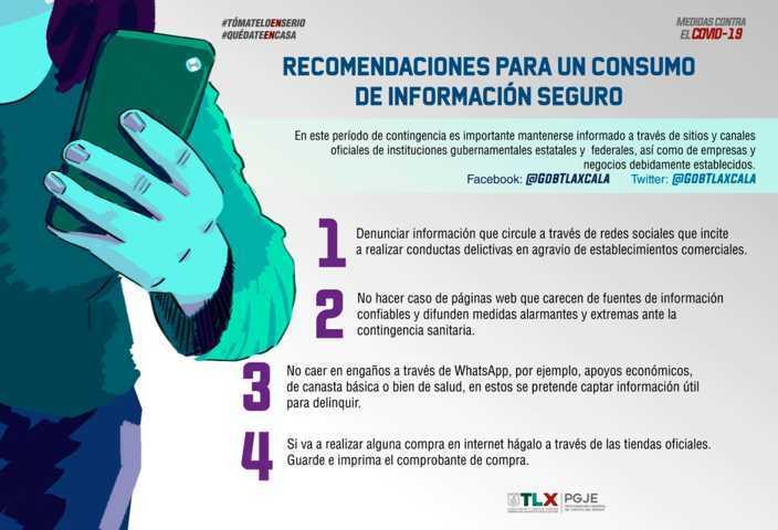 Emiten recomendaciones para informarse bien durante contingencia