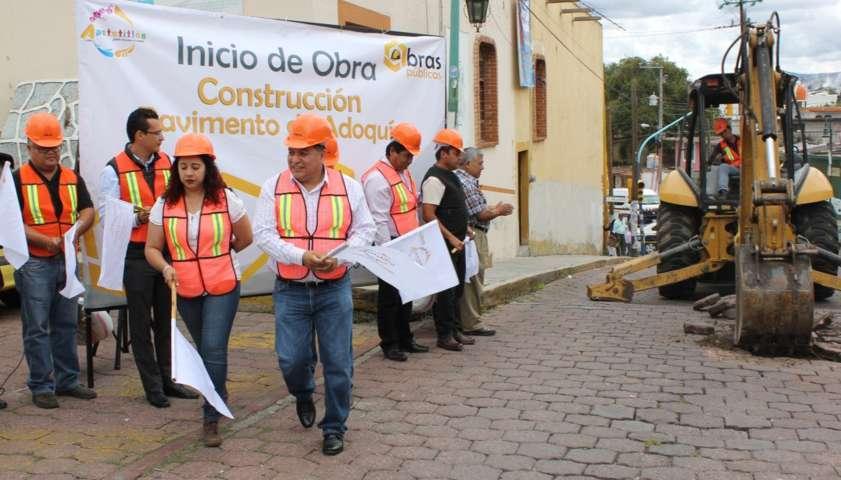 Inicia trabajos de obra pública ayuntamiento de Apetatitlán