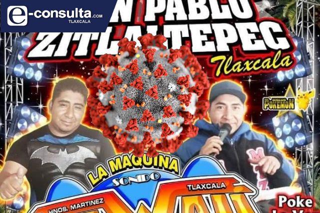 Imparables los bailes populares en Zitlaltepec; alcalde no le importa
