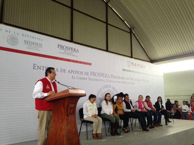 Incorporarán a mil 500 familias tlaxcaltecas al programa PROSPERA