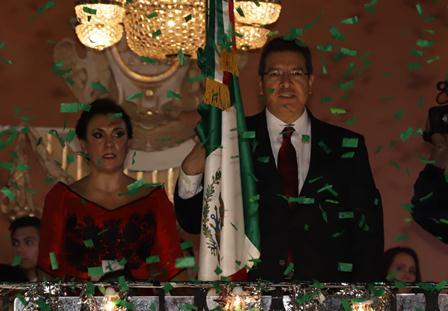 El gobernador  Mena da se segundo Grito de Independencia en Tlaxcala