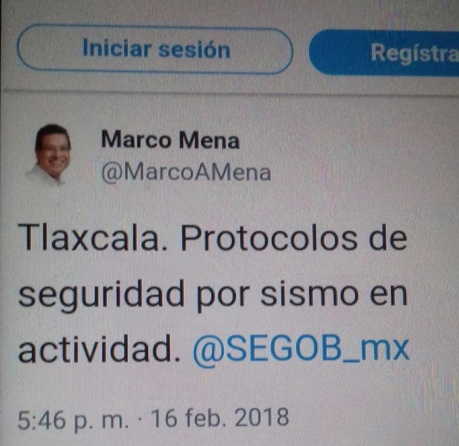 En marcha protocolos de seguridad tras sismo que se sintió en Tlaxcala